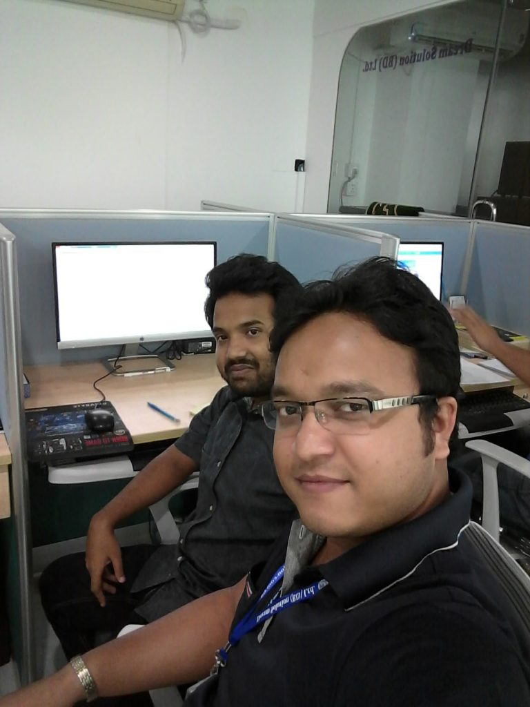 With Naught Colleagues at Dream Solution